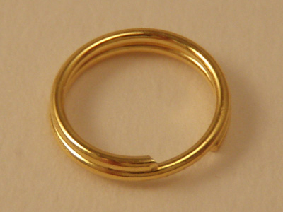 ring 6mm (10 pcs), gold plated