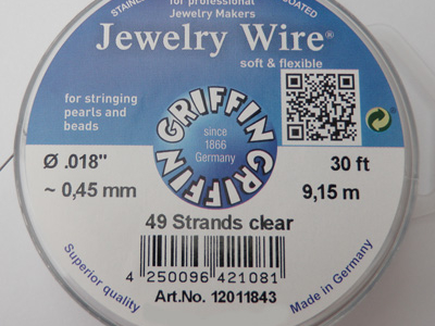 Jewelry Wire 0.45mm/9.15m/49str