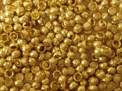 crimping bead 1.2mm, gold plated, 180 pcs