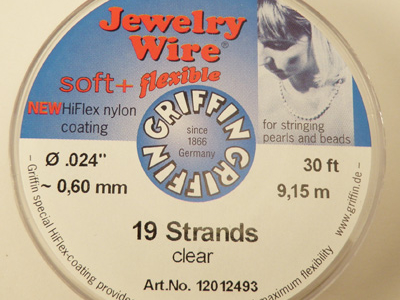 Jewelry Wire 0.60mm/9.15m/19str