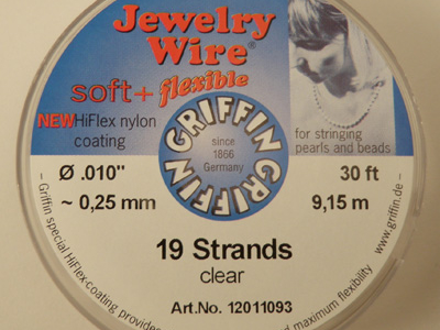 Jewelry Wire 0.25mm/9.15m/19str