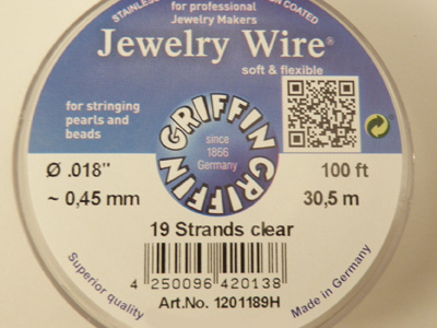 Jewelry Wire 0.45mm/30.5m/19str
