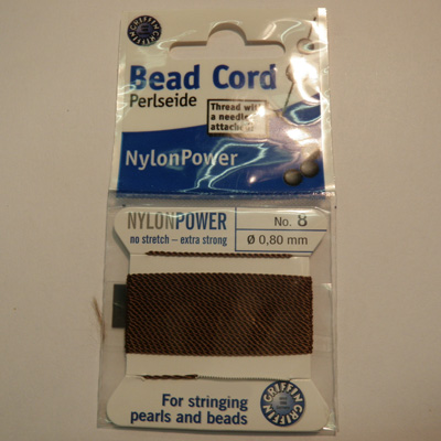 Bead cord brown no.10 (d=0.90mm)