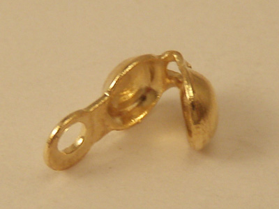 calotte 4mm closed (10 pcs), brass gold plated