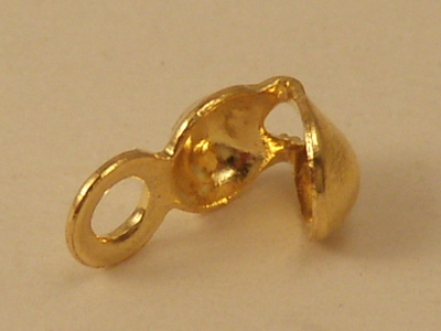 calotte 3mm closed (10 pcs), brass gold plated