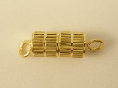 rotating clasp 5x17mm, brass gold plated